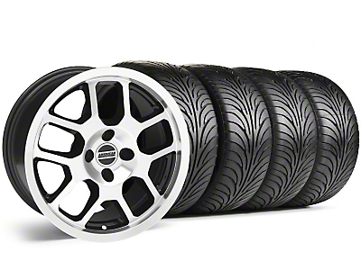 2007 GT500 Style Black Machined Wheel & Sumitomo Tire Kit - 17x9 (87-93; Excludes 93 Cobra)