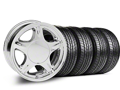 Pony Chrome Wheel & Sumitomo Tire Kit - 16x7 (87-93; Excludes 93 Cobra)