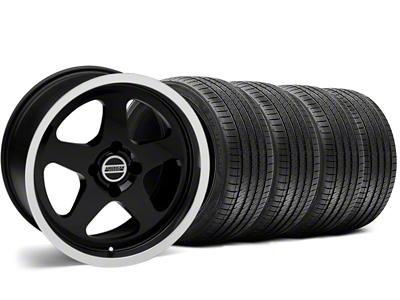 SC Style Black Wheel & Sumitomo Tire Kit - 17x8 (87-93; Excludes 93 Cobra)
