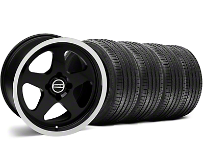 SC Style Black Wheel & Sumitomo Tire Kit - 17x8 (87-93; Excludes 93 Cobra)
