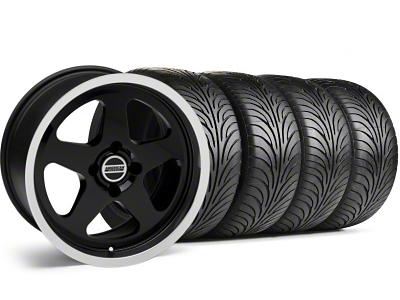 SC Style Black Wheel & Sumitomo Tire Kit - 17x9 (87-93; Excludes 93 Cobra)