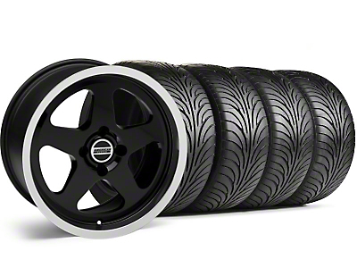 Black SC Style Wheel & Sumitomo Tire Kit - 17x9 (87-93; Excludes 93 Cobra)