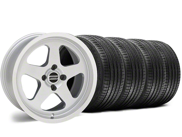 SC Style Silver Wheel & Sumitomo Tire Kit - 17x8 (87-93; Excludes 93 Cobra)