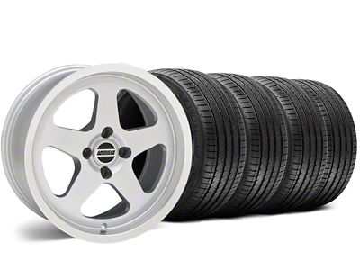 SC Style Silver Wheel & Sumitomo Tire Kit - 17x9 (87-93; Excludes 93 Cobra)