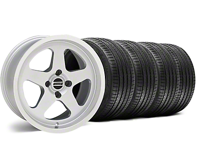 SC Silver Wheel & Sumitomo Tire Kit - 17x9 (87-93; Excludes 93 Cobra)