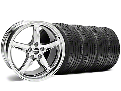 1995 Cobra R Style Chrome Wheel & Sumitomo Tire Kit - 17x9 (94-98 All)
