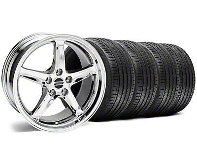 Deep Dish 1995 Cobra R Style Chrome Wheel & Sumitomo Tire Kit - 18x9 (94-98 All)