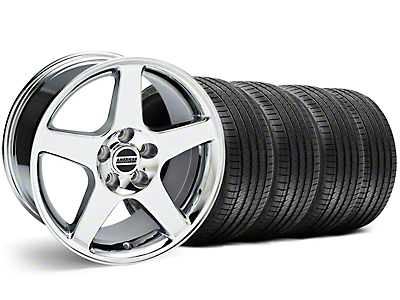 Chrome 2003 Cobra Wheel & Sumitomo Tire Kit - 17x9 (94-98 All)