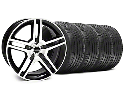 2010 GT500 Style Black Machined Wheel & Sumitomo Tire Kit - 18x9 (94-98 All)