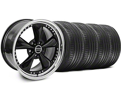 Bullitt Motorsport Black Wheel & Sumitomo Tire Kit - 18x9 (94-98 All)