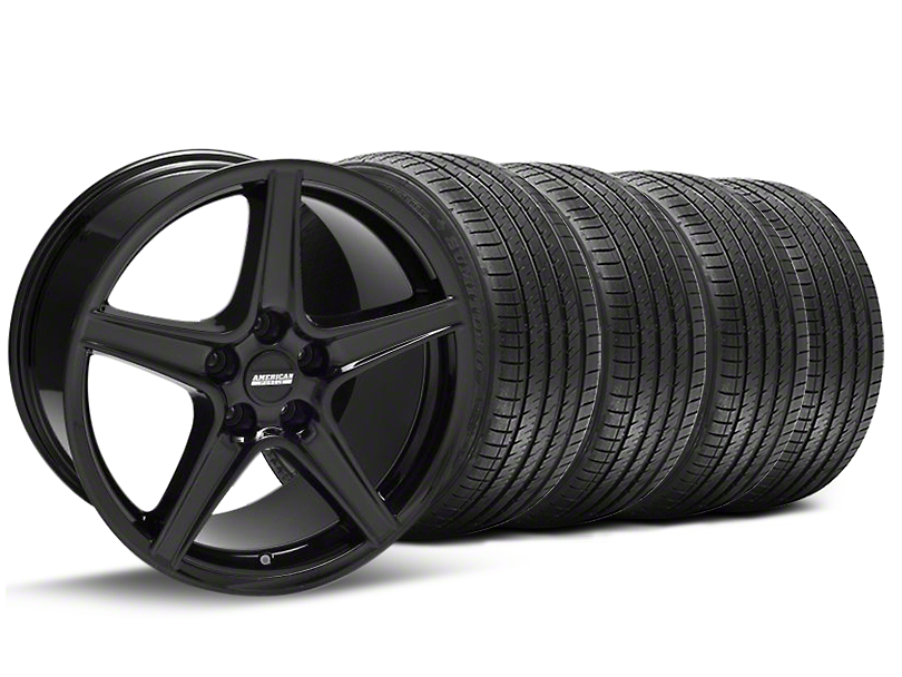 Saleen Style Black Wheel & Sumitomo Tire Kit - 18x9 (94-98 All)