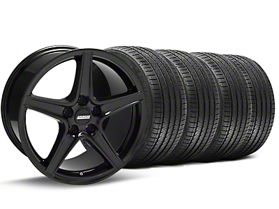 Black Saleen Style Wheel & Sumitomo Tire Kit - 18x9 (94-98 All)