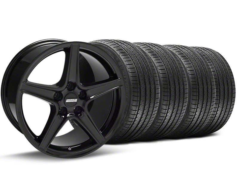 Saleen Style Black Wheel & Sumitomo Tire Kit - 18x9 (94-98 All)