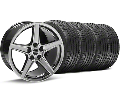Black Chrome Saleen Style Wheel & Sumitomo Tire Kit - 18x9 (94-98 All)