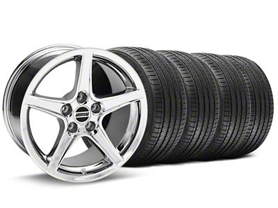 Saleen Style Chrome Wheel & Sumitomo Tire Kit - 17x9 (94-98 All)