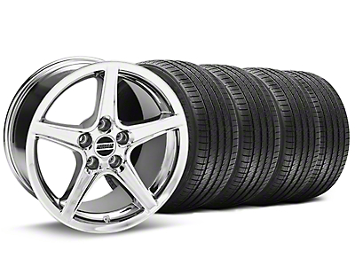 Saleen Chrome Wheel & Sumitomo Tire Kit - 17x9 (94-98 All)