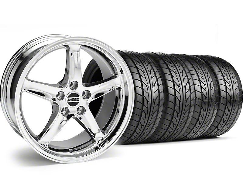 1995 Cobra R Style Chrome Wheel & NITTO Tire Kit - 18x9 (94-98 All)
