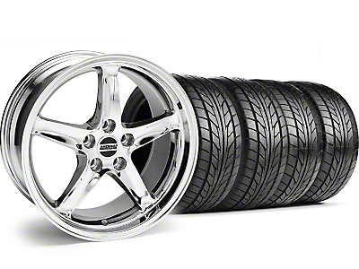 Deep Dish 1995 Cobra R Style Chrome Wheel & NITTO Tire Kit - 18x9 (94-98 All)