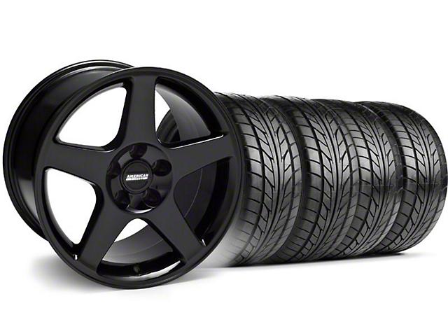 2003 Cobra Style Black Wheel & NITTO Tire Kit - 17x9 (94-98 All)