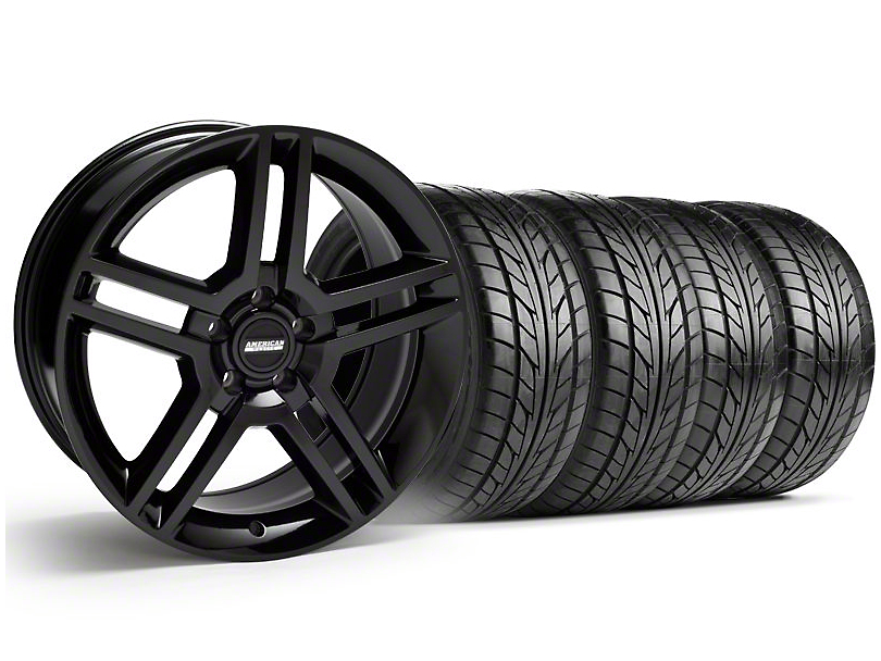 2010 GT500 Style Black Wheel & NITTO Tire Kit - 18x9 (94-98 All)