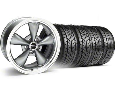 Bullitt Anthracite Wheel & NITTO Tire Kit - 18x9 (94-98 All)