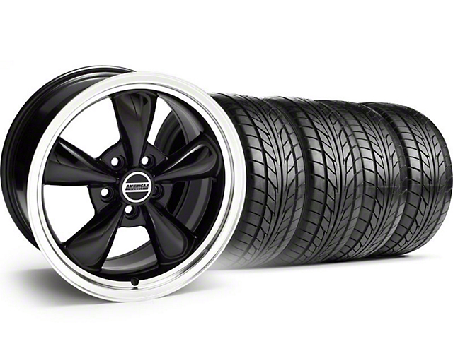 Bullitt Black Wheel & NITTO Tire Kit - 18x9 (94-98 All)