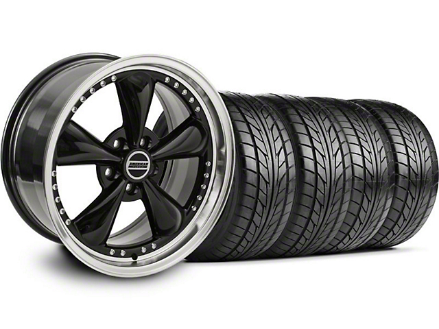 Bullitt Motorsport Black Wheel & NITTO Tire Kit - 18x9 (94-98 All)