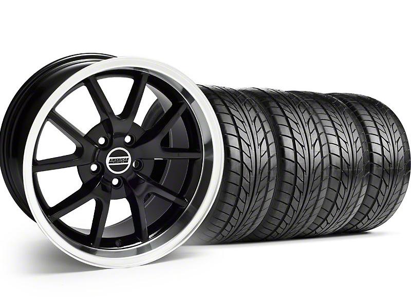 FR500 Black Wheel & NITTO Tire Kit - 17x9 (94-98 All)