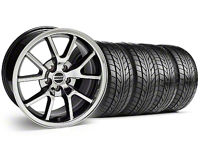 FR500 Black Chrome Wheel & NITTO Tire Kit - 18x9 (94-98 All)