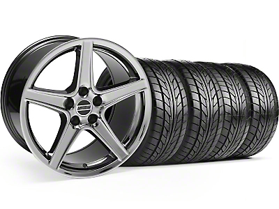 Saleen Black Chrome Wheel & NITTO Tire Kit - 18x9 (94-98 All)