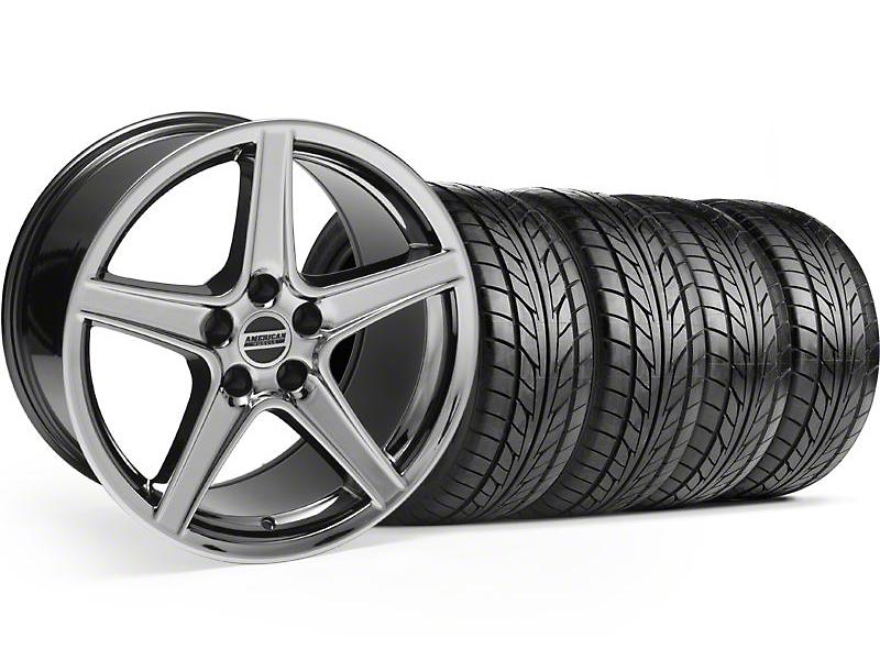 Saleen Style Black Chrome Wheel & NITTO Tire Kit - 18x9 (94-98 All)