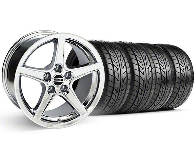 Saleen Style Chrome Wheel & NITTO Tire Kit - 18x9 (94-98 All)