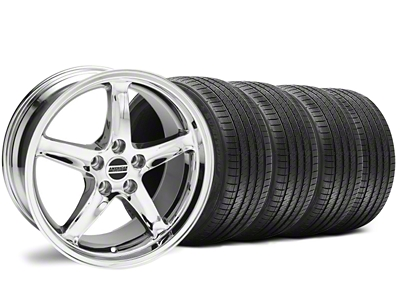 Staggered 1995 Cobra R Style Chrome Wheel & Sumitomo Tire Kit - 18x9/10 (94-98 All)
