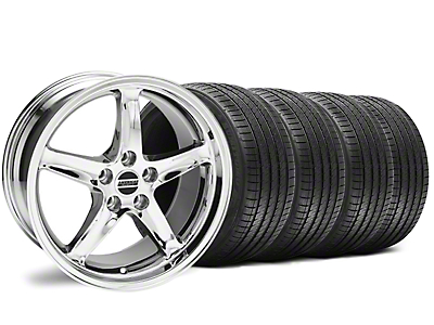 Staggered Chrome 1995 Style Cobra R Wheel & Sumitomo Tire Kit - 18x9/10 (94-98 All)