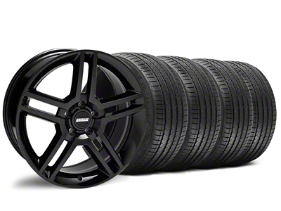 Staggered 2010 GT500 Style Black Wheel & Sumitomo Tire Kit - 18x9/10 (94-98 All)