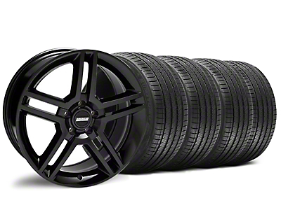 Staggered Black 2010 GT500 Wheel & Sumitomo Tire Kit - 18x9/10 (94-98 All)