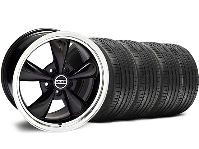 Staggered Bullitt Black Wheel & Sumitomo Tire Kit - 18x9/10 (94-98 All)