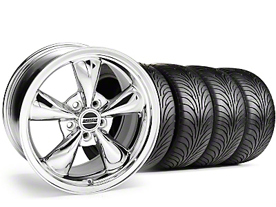 Staggered Chrome Bullitt Wheel & Sumitomo Tire Kit - 18x9/10 (94-98 All)