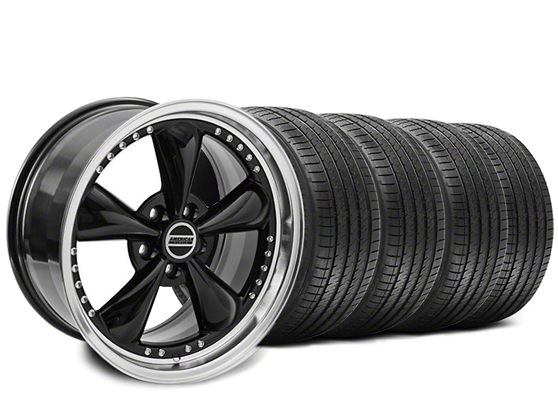 Staggered Bullitt Motorsport Black Wheel & Sumitomo Tire Kit - 18x9/10 (94-98 All)