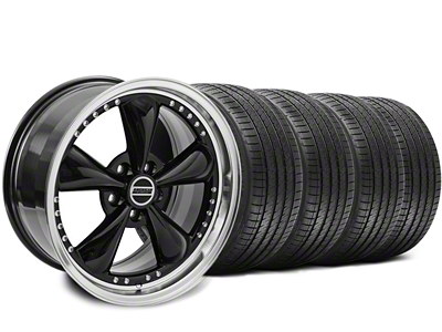 Staggered Bullitt Motorsport Black Wheel & Sumitomo Tire Kit - 18x9/10 (94-98 All)