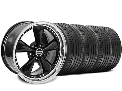 Staggered Black Bullitt Motorsport Wheel & Sumitomo Tire Kit - 18x9/10 (94-98 All)