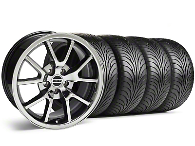 Staggered Black Chrome FR500 Wheel & Sumitomo Tire Kit - 18x9/10 (94-98 All)