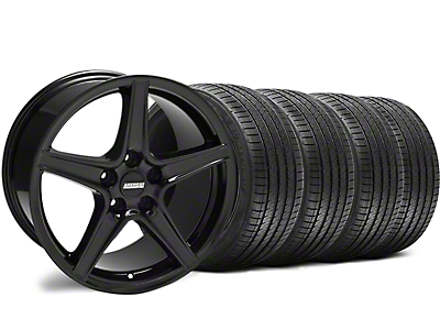 Staggered Saleen Black Wheel & Sumitomo Tire Kit - 18x9/10 (94-98 All)