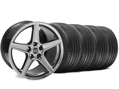 Staggered Saleen Style Black Chrome Wheel & Sumitomo Tire Kit - 18x9/10 (94-98 All)