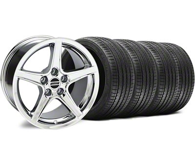 Staggered Saleen Style Chrome Wheel & Sumitomo Tire Kit - 18x9/10 (94-98 All)