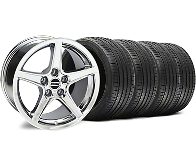 Staggered Chrome Saleen Style Wheel & Sumitomo Tire Kit - 18x9/10 (94-98 All)