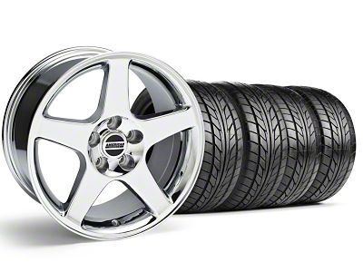 Staggered 2003 Cobra Style Chrome Wheel & NITTO Tire Kit - 17x9/10.5 (94-98 All)