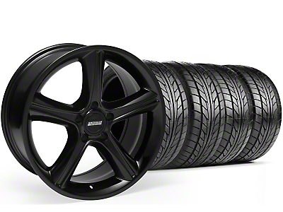Staggered Black 2010 Style GT Premium Wheel & NITTO Tire Kit - 18x9/10 (94-98 All)
