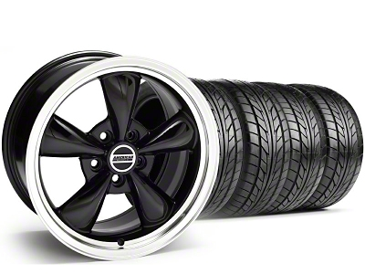 Staggered Bullitt Black Wheel & NITTO Tire Kit - 17x9/10.5 (94-98 All)