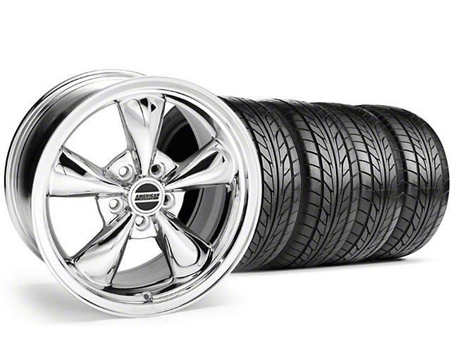 Staggered Bullitt Chrome Wheel & NITTO Tire Kit - 18x9/10 (94-98 All)